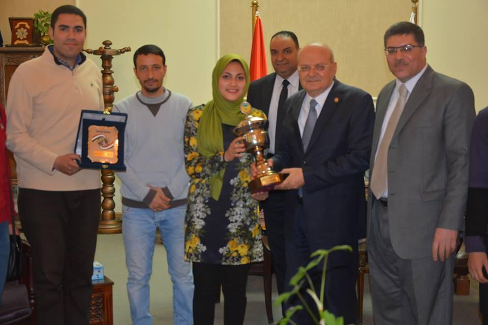 Zagazig University wins the shield of the fourth forum of Nano Technology for Egyptian universities