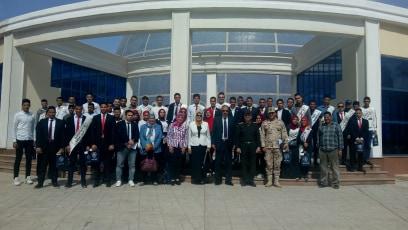 فوج من طلاب جامعة الزقازيق في زيارة الكلية الحربية في إطار مبادرة يوم جديد