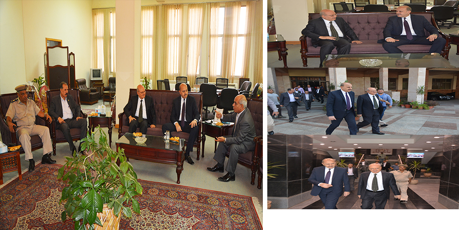 Prime Zagazig University receives security director of the sharkia