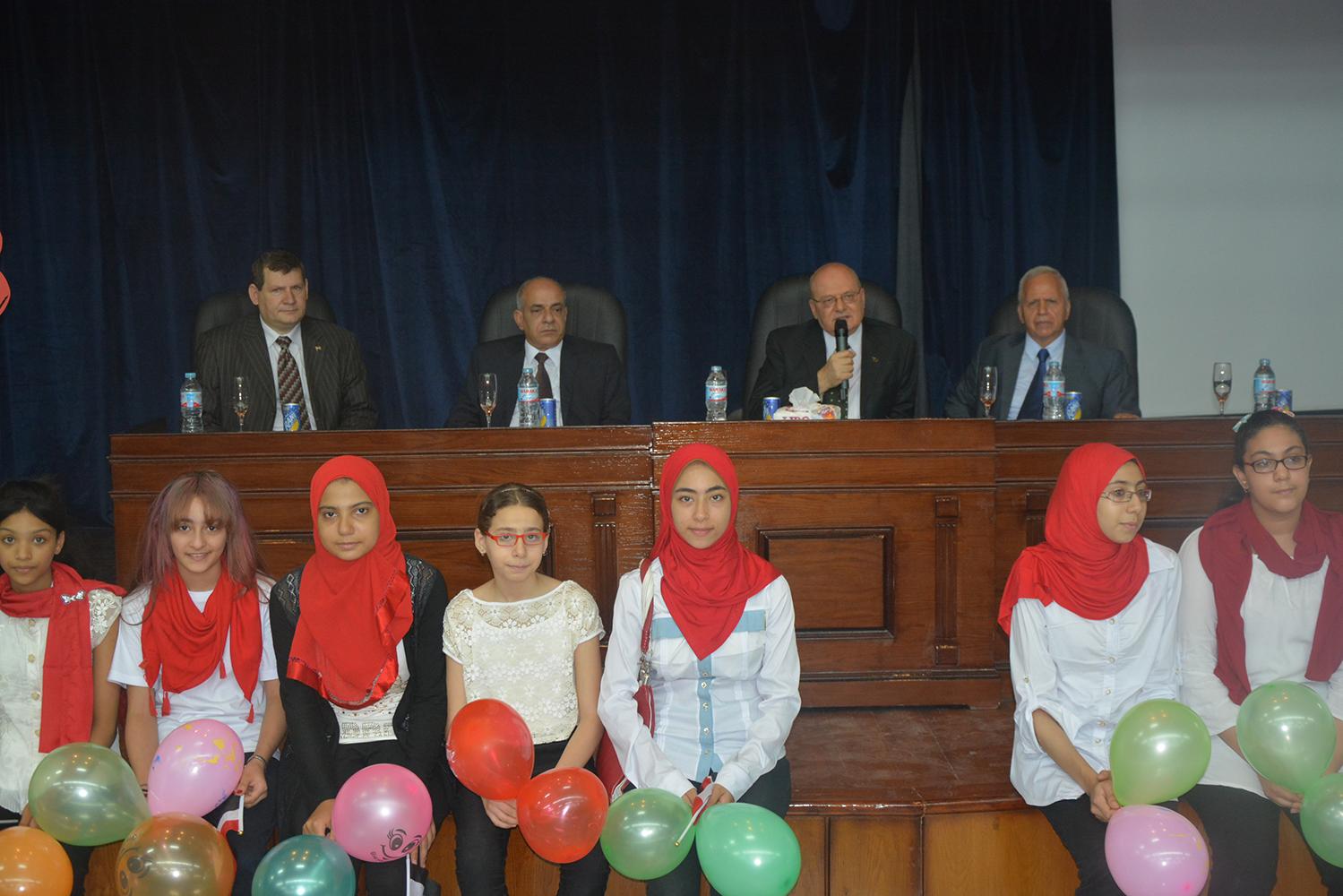 احتفالية لاستقبال طلاب جامعة الطفل بجامعة الزقازيق