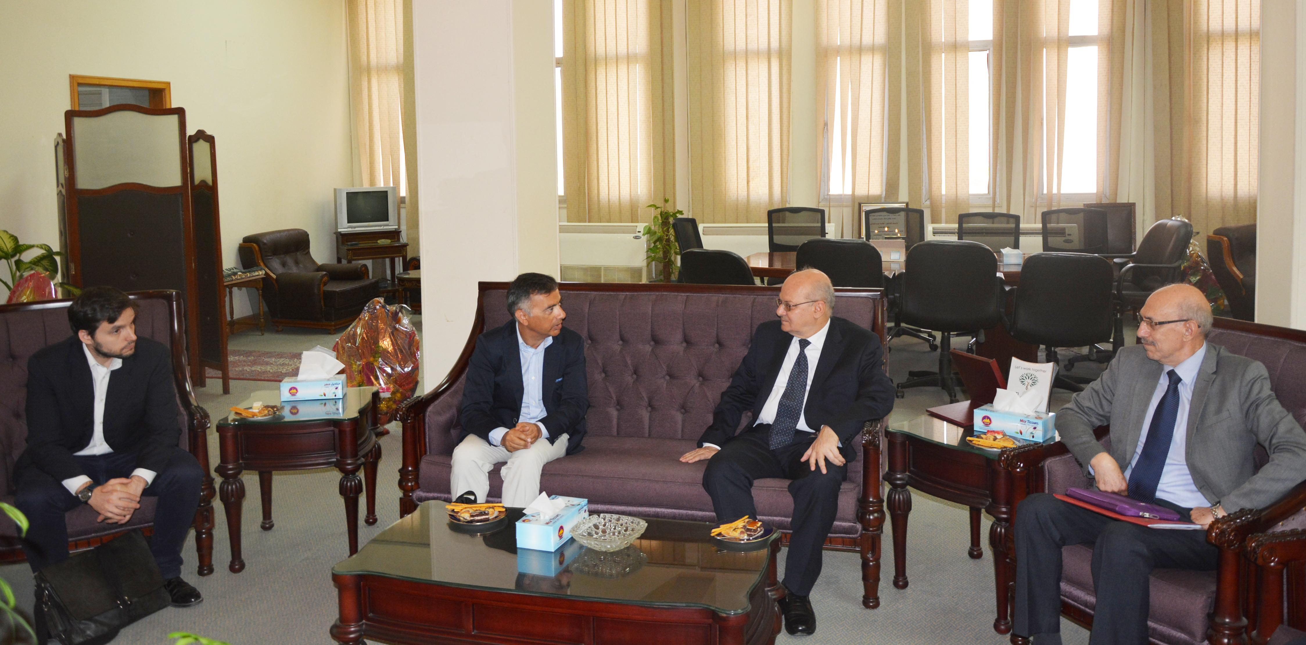 Italian delegation on a visit to Zagazig University