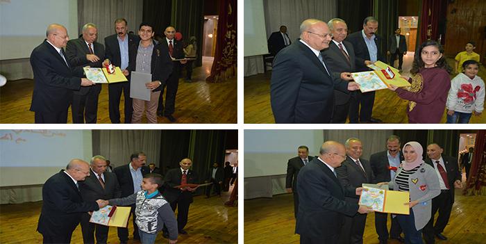 احتفالية لتكريم المتفوقين والمتميزين من أبناء أعضاء هيئة التدريس بجامعة الزقازيق