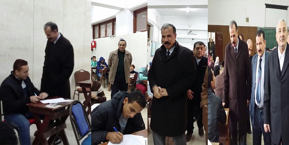 د. عبد الحكيم نور الدين نائب رئيس جامعة الزقازيق يتابع سير أعمال الامتحانات
