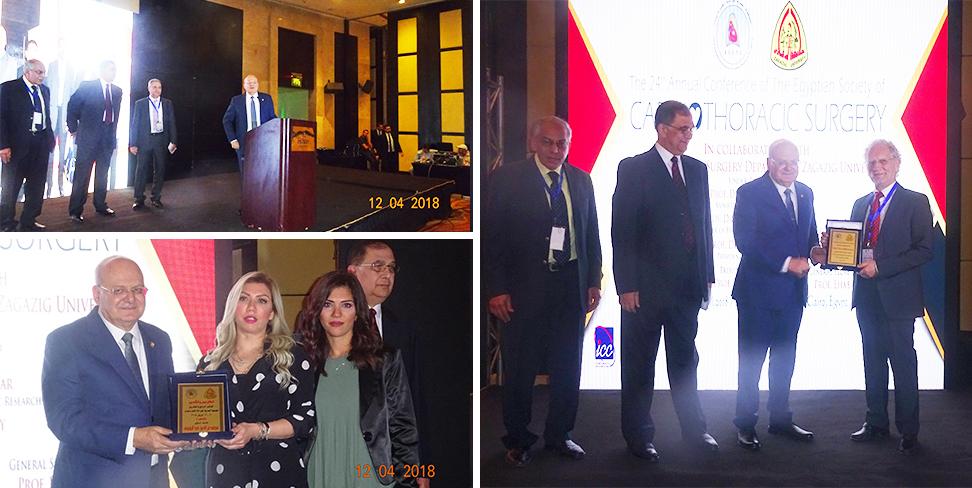 رئيس جامعة الزقازيق في افتتاح فاعليات المؤتمر الرابع والعشرون للجمعية المصرية لجراحة القلب والصدر