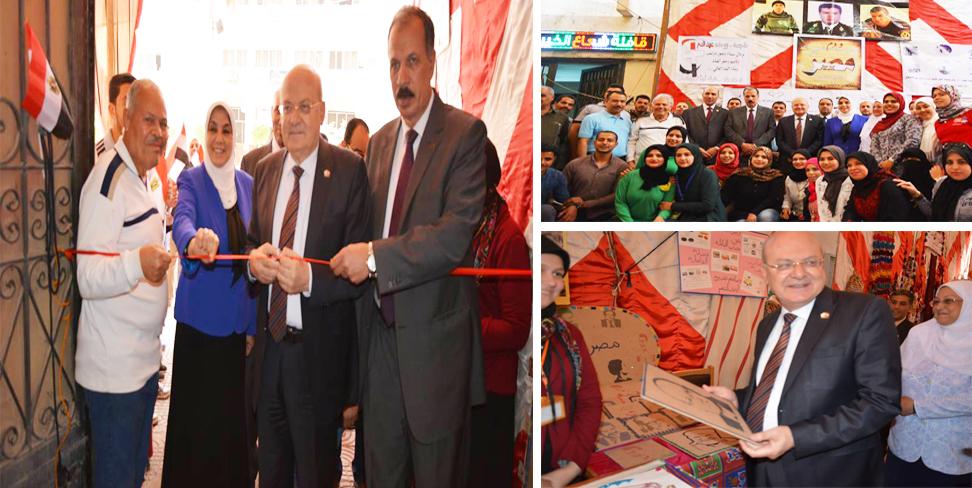 رئيس جامعة الزقازيق يفتتح معرض أسرة شعاع الخير بمشاركة مؤسسات تطوعية بالشرقية وشمال سيناء