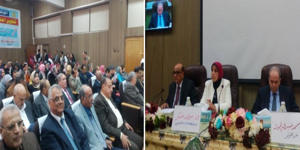 د. مرفت عسكر تفتتح فعاليات مؤتمر تطوير إعداد المعلم بتربية الزقازيق
