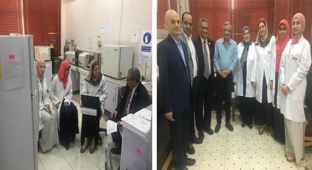 فريق الهيئة الوطنية للاعتماد والجودة  في زيارة لمعمل بطب بشري الزقازيق