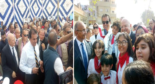 وزير التعليم العالي يختتم زيارته لجامعة الزقازيق بتفقد ما تم تنفيذه لتطوير قرية تل روزن