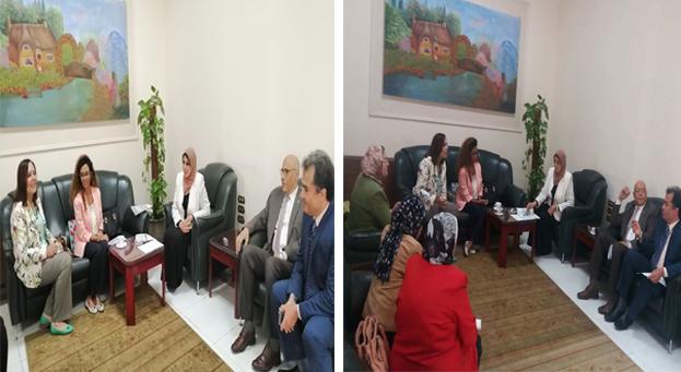 Dr. Mervat Askar, Acting President of Zagazig University receives UNFPA representatives