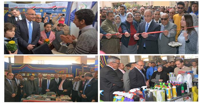 د.عثمان شعلان رئيس جامعة الزقازيق يفتتح معرض التسوق تحت شعار - حياة كريمة لكل مواطن