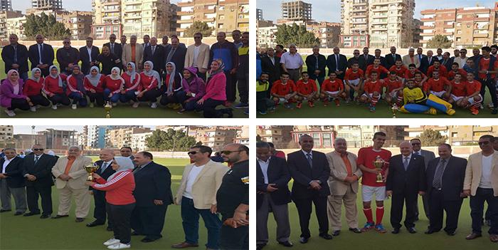 رئيس جامعة الزقازيق يهنئ فريقي الجامعة للهوكى لفوزهما بالمركز الأول في بطولة الجامعات المصرية
