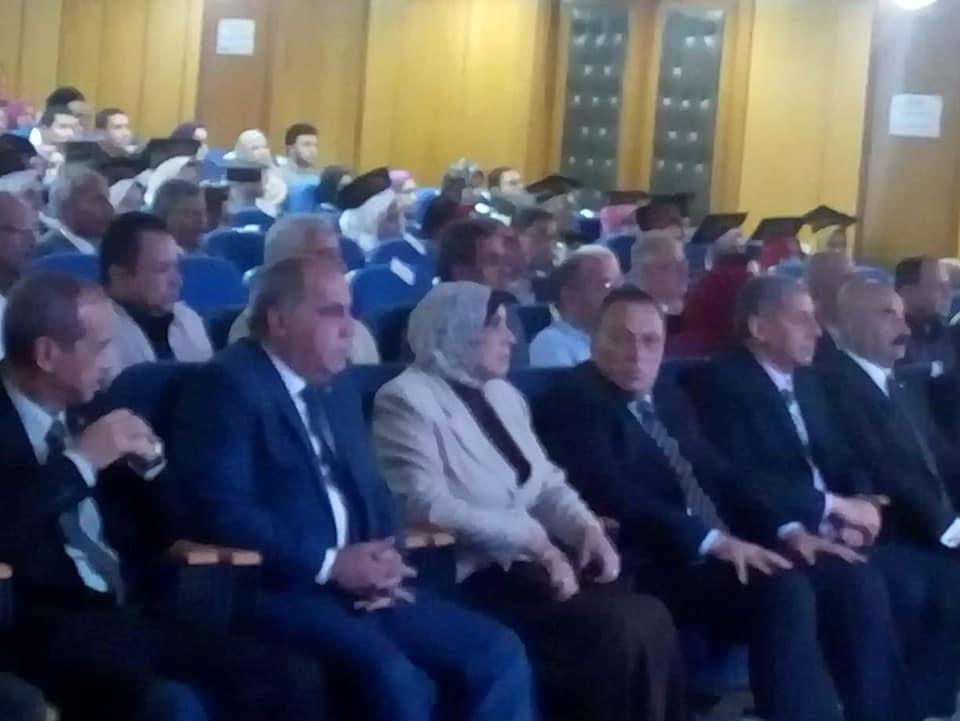 Dr. Mervat Askar, Acting President of Zagazig University witnesses the honoring of the outstanding high school students